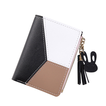 Ladies Lightweight Practical Multi Pocket Elegant Women Wallet With Tassel Drop Smart Portable Contrast Color Short Fashion