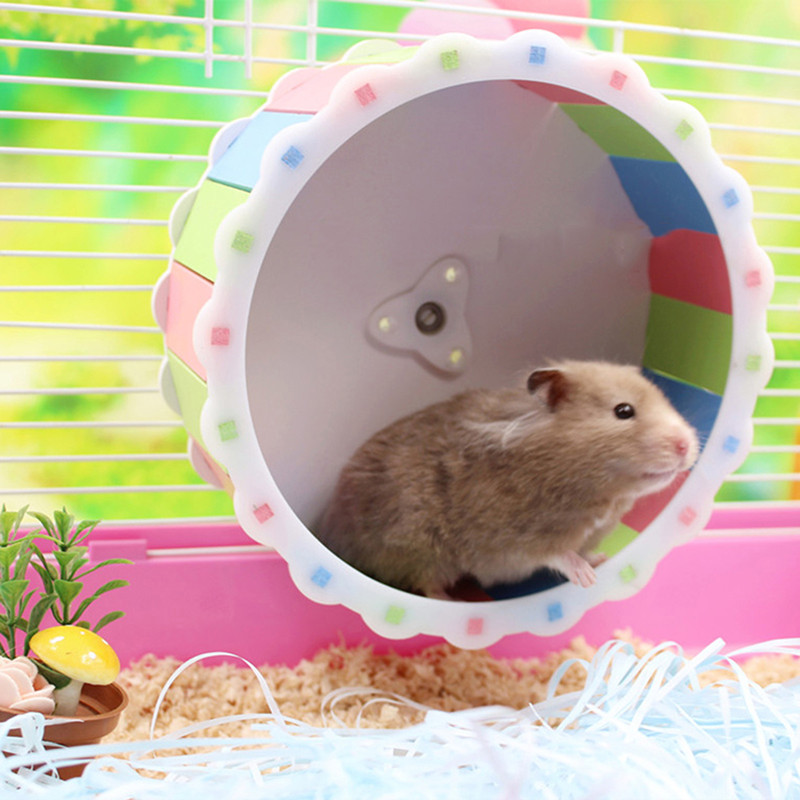 New Hot Selling Small Pet Toy Hamster Running Wheel Pet Sports Toy Cute Hamster Keep Running Wheel Toy