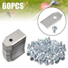Hoja de reemplazo de cortacésped con revestimiento de titanio, 60 Uds., con tornillos para Robot, herramientas de jardín