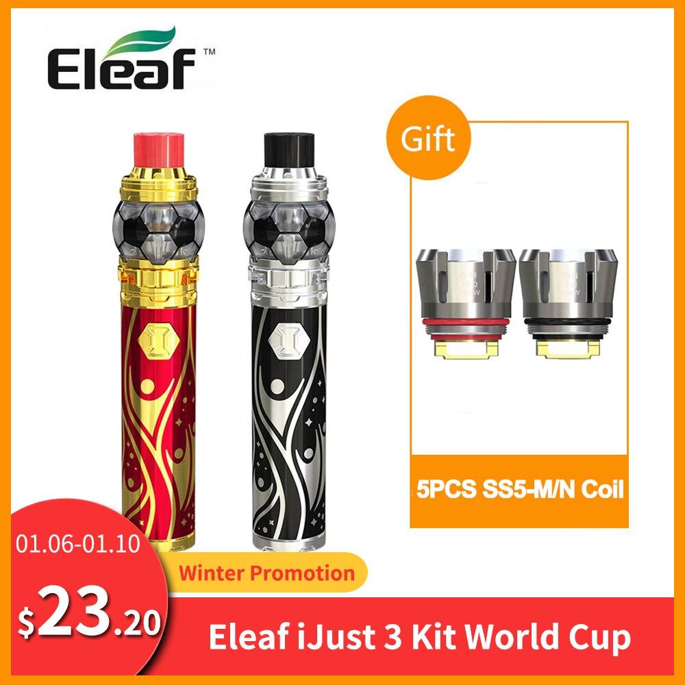 Free Gift Coil Original Eleaf IJust 3 Kit With ELLO Duro 7.5ml World Cup Built 3000mAh HW-M Coil Vape Vs Eleaf IJust S Kit E-Cig