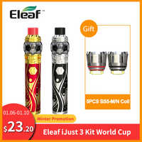 Presente livre bobina original eleaf ijust 3 kit com ello duro 7.5ml copa do mundo construído 3000 mah HW-M bobina vape vs eleaf ijust s kit e-cig