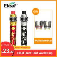 Regalo gratis bobina Original Eleaf iJust 3 Kit con ELLO Duro 7,5 ml Copa del Mundo construido 3000mAh HW-M bobina Vape vs Eleaf iJust S Kit e-cig