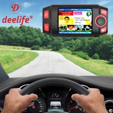 Deelife-receptor de Radio de coche DAB + Plus, adaptador de Audio Digital, transmisor FM, manos libres, Bluetooth