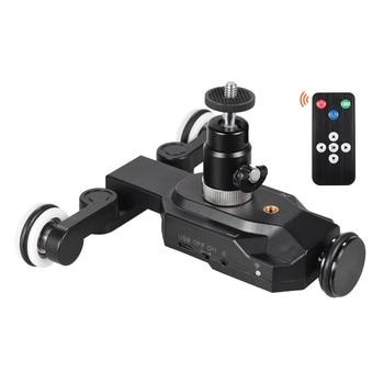 Portable Wireless Motorized Camera Video Dolly Slider Dolly Rolling Slider Dolly Slider for Canon Nikon Sony DSLR Photography
