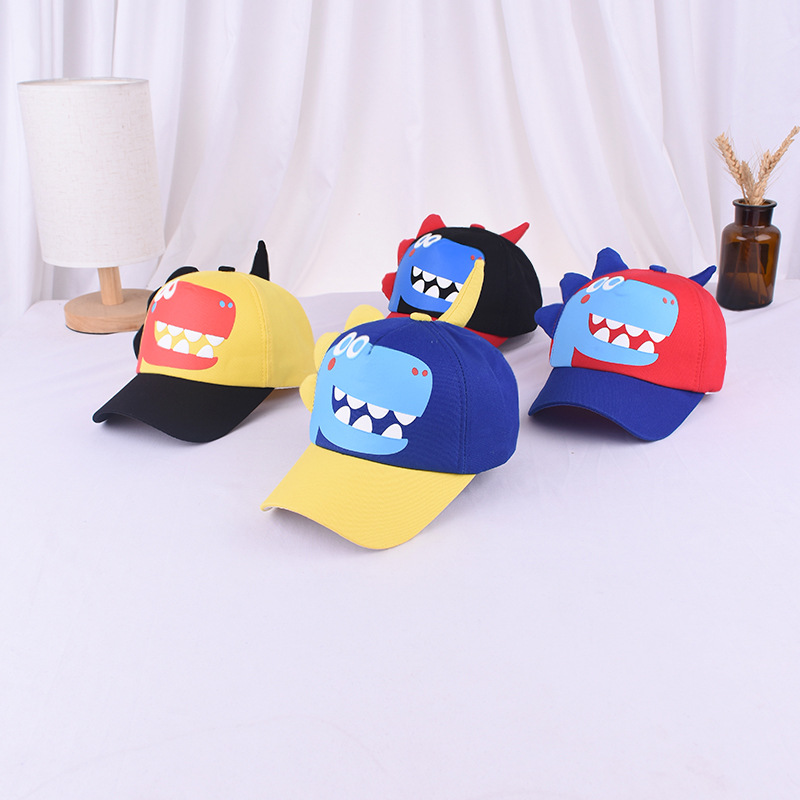 2020 New Arrival Hot Sell Cartoon Dragon Kids Baseball Cap  Summer Hat Outdoor Adjustable Hip Hop Hats Casquette