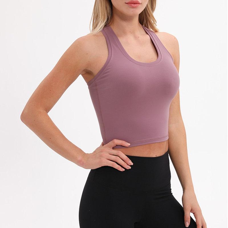 Running Vest Yoga Top Tank Plain Gym Jogger Workout Fitness Vest Sport9s