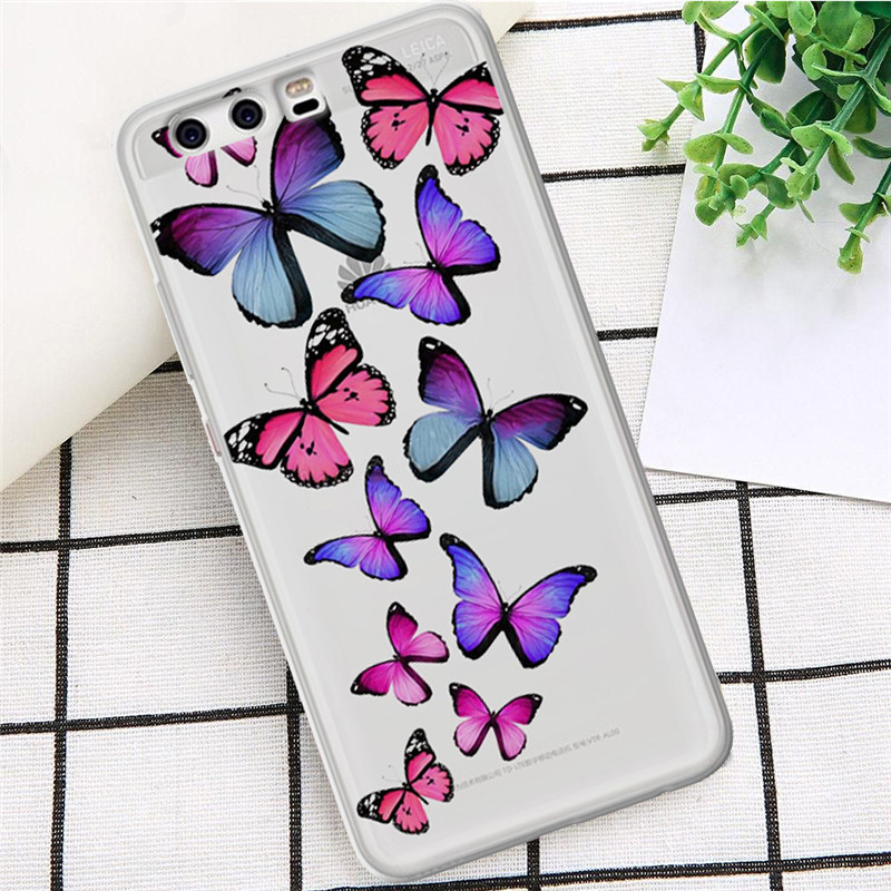 Flamingo luxury For Huawei Mate 9 10 20 P8 P9 P10 P20 P30 P Smart Lite Plus Pro phone Case Cover Coque Etui funda fashion ANIMAL in Half wrapped Cases from Cellphones Telecommunications