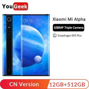 "Original New Xiaomi MIX Alpha 12GB 512GB Snapdragon 855Plus 7.92"" 1080P OLED 100MP Super"
