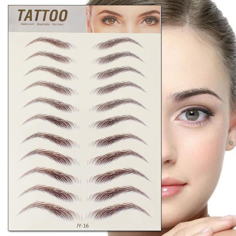 6D Eyebrow Sticker Bionic Tattoo Semi-Permanent Water Transfer Waterproof Embroidery Eyebrow Tattoo Sticker Makeup Supplies 1