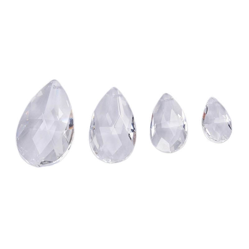 1pc Clear Chandelier Glass Crystals Lamp Prisms Parts Hanging Drops Pendants 38mm-76mm Crystal Lamp Accessories