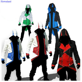 Natale di Halloween Assassin's Creed Costume Cosplay Conner Cappotti Giochi Cosplay Anime Costumi Streetwear HoodedOutwear Costume