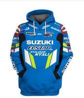 2019 New Motorcycle Hoodie For Suzuki Printed Embroidery Auto Logo Sweatshirt Hooded Jacket Coat RR GSXR GXS Moto Clothing S XXL