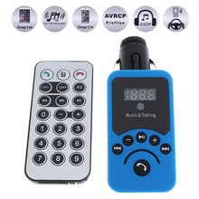 Fashionable Car LCD Bluetooth MP3 Music Player Kit Auto Stereo Radio Player Hands-free FM Transmitter with Remote Control(China)