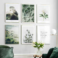 Nordic Poster Flowers Canvas Painting Plant Wall Art Pictures For Living Room Natural Modern Home Decorative Prints On The Wall