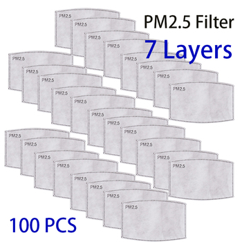 7 Layers PM2.5 Mask Filter Paper 7Ply Anti Dust Mouth Face Mask Carbon Cotton Disposable Filter Protective For PM2.5 Mask