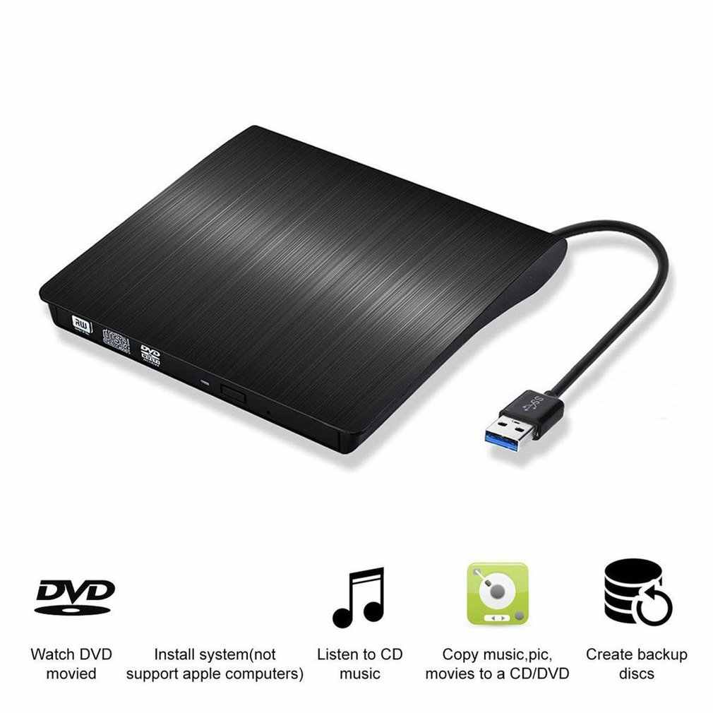 USB 3.0 Slim Eksternal DVD RW CD Writer Drive Burner Reader Pemain Drive Optik untuk Laptop PC