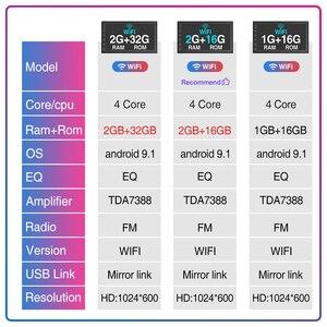 """Image 3 - Podofo 2 Din odbiornik Stereo 7 """"HD 7018B Bluetooth Autoradio FM Audio odtwarzacz MP5 dla Nissan Hyundai Kia Toyota CR V Suzuki Lada"""