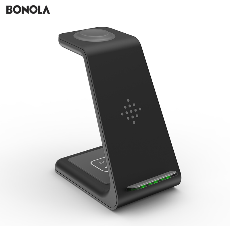 Bonola 3 in1 Wireless Charger For iPhone 11 Xs AirPods Apple Watch 23 Wireless Charging Stand