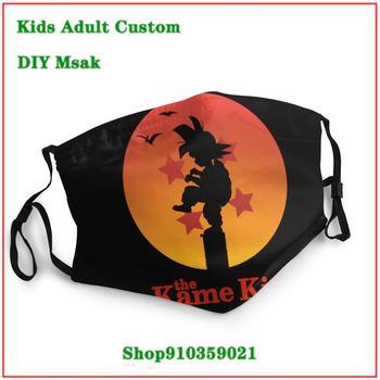 Hot sale mouth mask reusable kids Dragon Ball The Kame Kid Karate Kid Muten Roshi Son Goku Orange masque tissus lavable