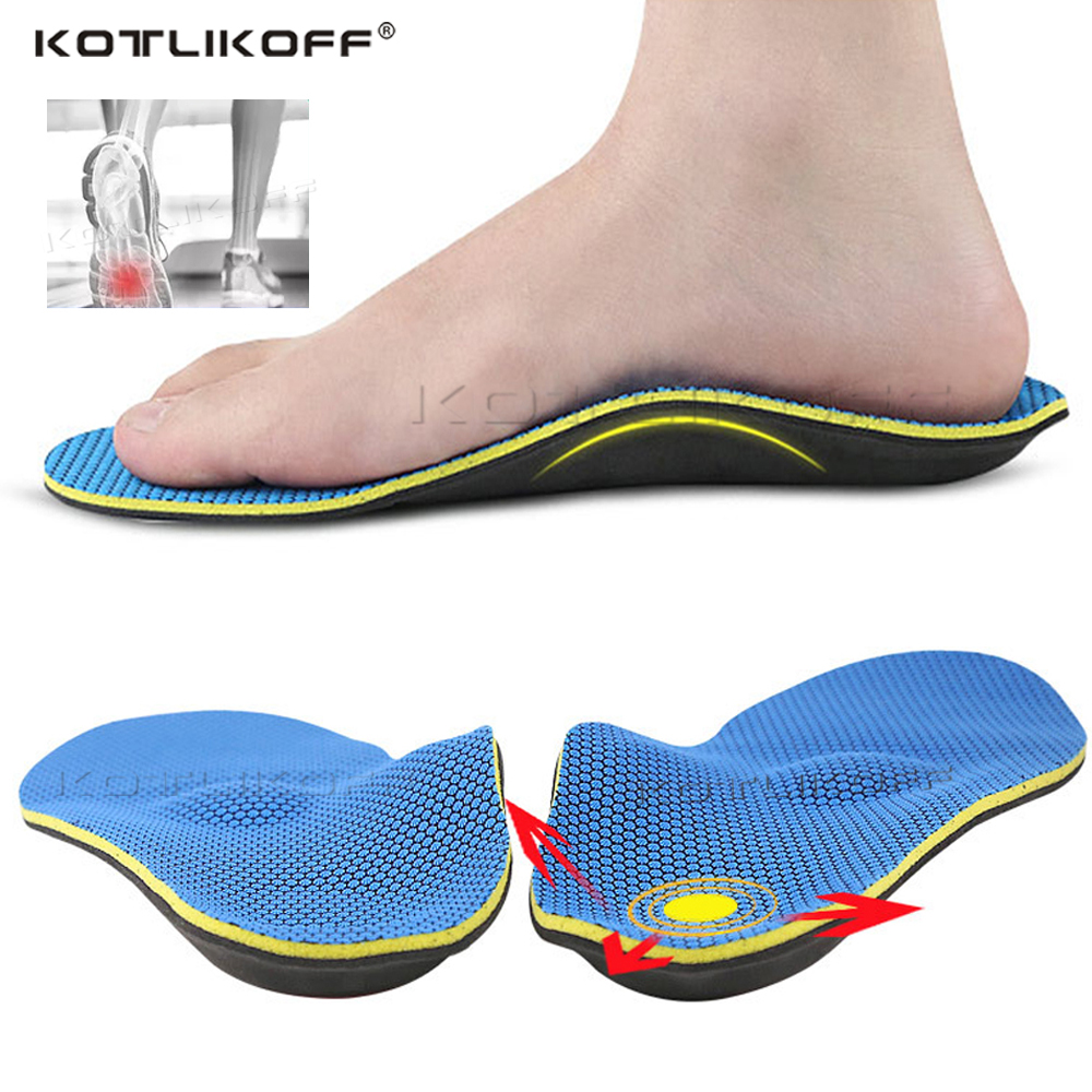 High Quality Severe Flat Feet Insoles Orthotic Arch Support Foot Massage Inserts Orthopedic Shoes Insoles Heel Pain  Men Woman