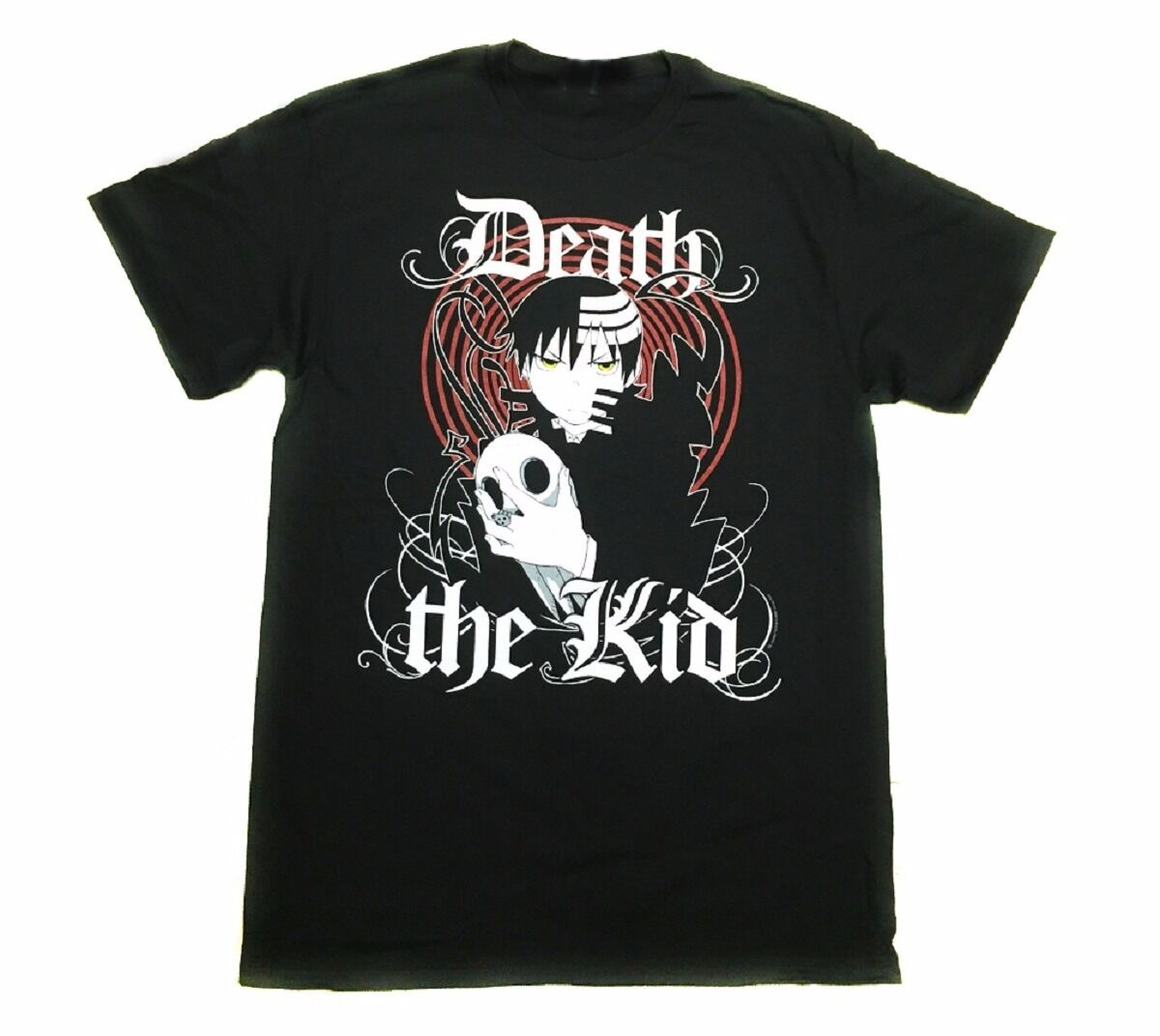 Soul Eater Death The Kid Old English Anime Licensed Adult T-Shirt image
