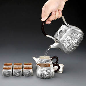 Tea-Set Production Business-Gift-Set Kung-Fu Silver Cup S999-Sterling-Silver Festival