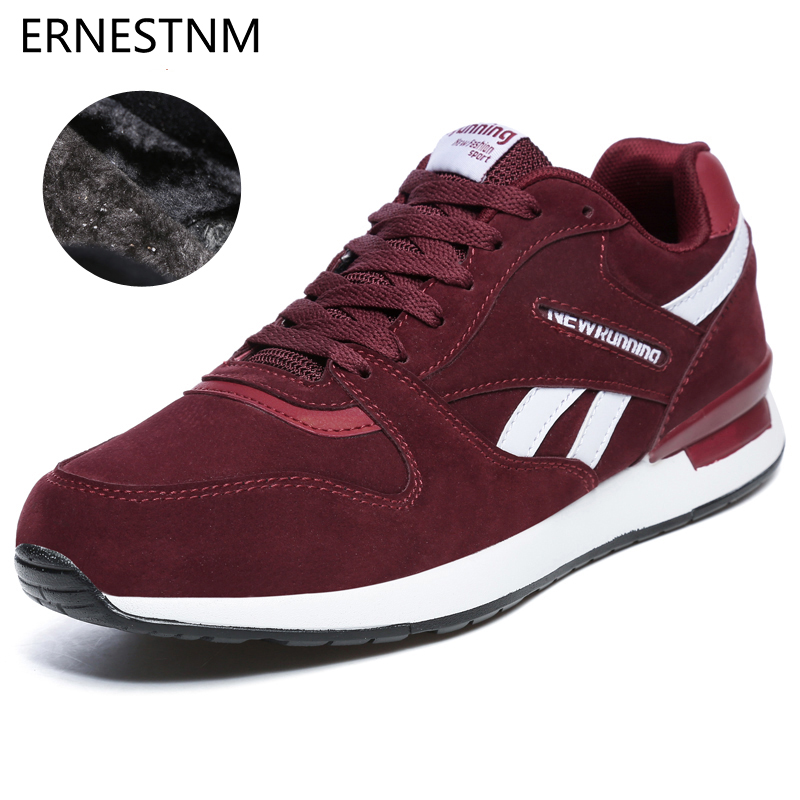 ERNESTNM Sneakers Women Winter Plush Casual Lover Shoes Non-slip Outdoor Warm Walking Shoes Light Rubber Lace-up Black Sneakers