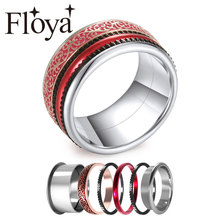 Cremo Fashion Black Rings For women Vampire Band Halloween  Rotatable Interchangeable Ring Femme Bijoux Making Supplies Craft