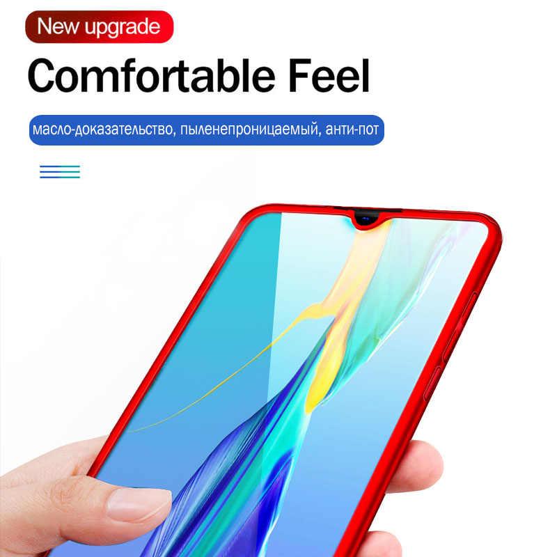 יוקרה 360 מלא כיסוי זכוכית טלפון מקרה עבור Xiaomi Redmi K20 9T CC9E CC9 A3 ללכת הערה 8 6 6A 5 5A 7 7A לייט פרו בתוספת כיסוי Coque