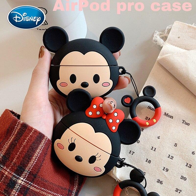 Minnie dos desenhos animados mickey airpods pro capa de silicone bonito apple 3 geração sem fio fone ouvido bluetooth escudo acessórios brinquedo