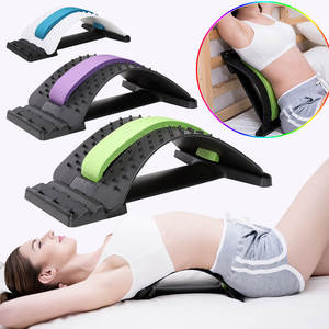 1pc Back Stretch Equipment Massager Magic Stretcher Fitness Lumbar Support Relaxation