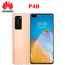 Resmi yeni orijinal Huawei P40 cep telefonu Kirin 990 5G Octa çekirdek 6.1 inç OLED ekran arka kamera 50MP OTG NFC