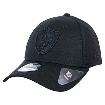 A NEW ERA Era Black on Black 39Thirty Cap ~ Oakland Raiders XS/S caps for men, trucker cap, summer, hat, baseball cap