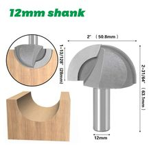 12mm 1/2'' Shank Core Box Router Bit 2 Flutes Carpentry Cutter Tool Woodworking