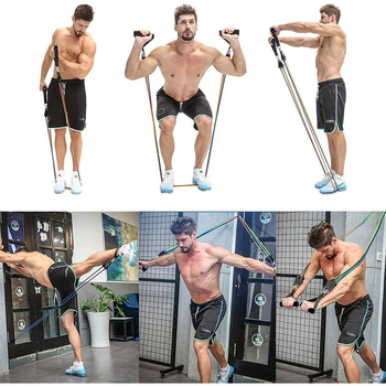 11 Pcs Resistance Bands Set Bodybuilding Expander Stretchy Gum Sports Workout Elastic Band For Training Rubber Bands For Fitness 3