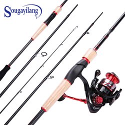 Sougayilang Unicorn Portable Fishing Rod with 13+1BB Spinning Reel Combo Carbon Fiber Fishing Pole and Spinning Wheel Kit