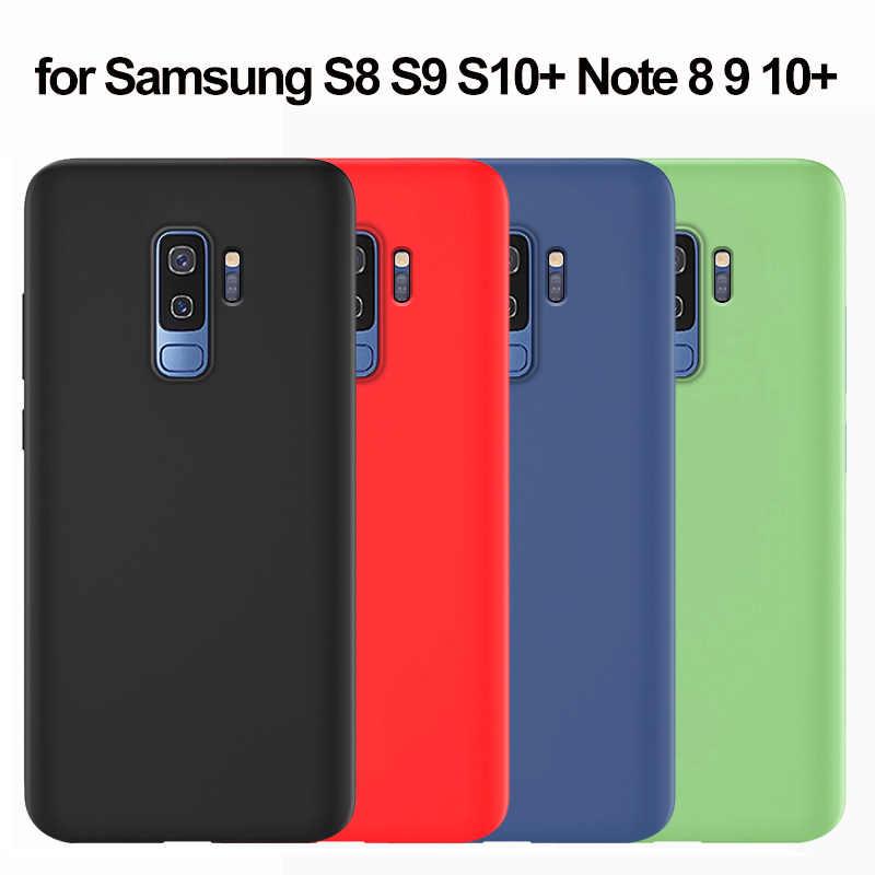 สำหรับ Samsung S9 ซิลิโคนนุ่มสำหรับ Samsung Galaxy S8 S9 S10 S11 S20 5G PLUS S10e หมายเหตุ 10 9 8 A51 A71 A70 A50 A40 กรณี