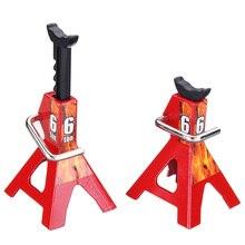 2Pcs 1/10 RC Cars Metal Jack Stands Repairing Tool 2Pcs/Set RC Crawler Climbing Car Repair Tools Diecasts Vehicles Model Parts A