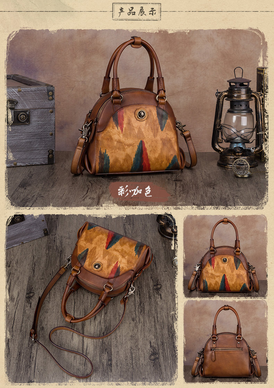 Γυναικεία τσάντα από γνήσιο δέρμα χειροποίητη msow