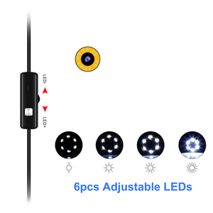 Image 4 - 7mm 5.5mm endoskop kamera esnek IP67 su geçirmez mikro USB endüstriyel endoskop Android kamera telefonu PC 6LED ayarlanabilir