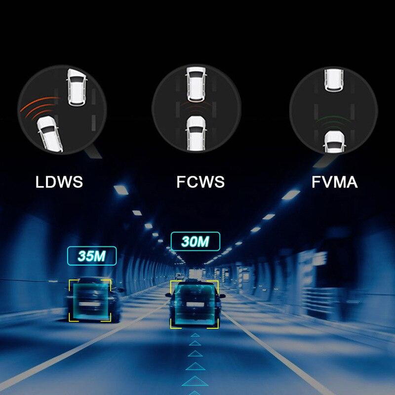 E-ACE E07 1080P HD 4G Автомобильная DVR камера ADAS видео рекордер Android 5,1 GPS навигация удаленный монитор грузовик видеорегистратор две камеры
