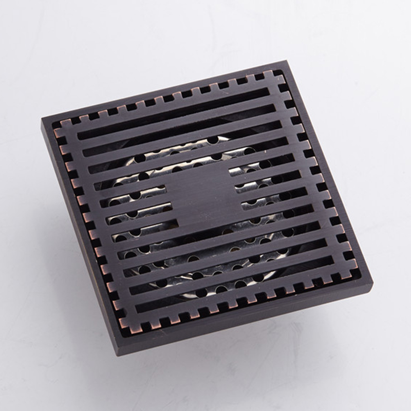 Floor Drain Bathroom Brass Square Black Sink Shower Drainer Strainer Toilet Linear Covers Tile Insert Waste Grates