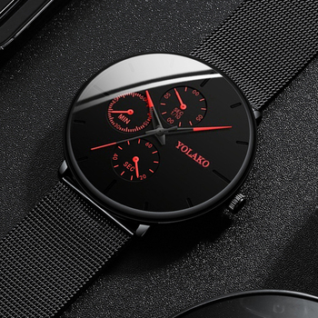 2020 Fashion Mens Watch Minimalist Luxury Ultra Thin Stainless Steel Mesh Band Wrist Watch Analog Quartz Watches Relojes Hombre dom men watches top brand luxury quartz watch casual quartz watch black leather mesh strap ultra thin fashion clock male relojes
