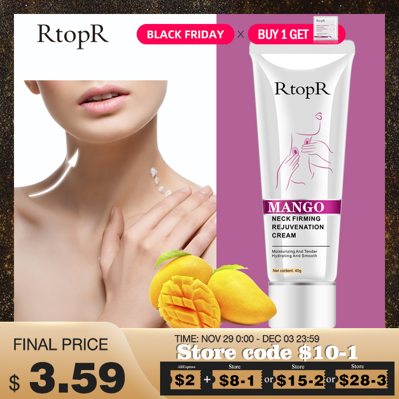 RtopR Neck Firming Rejuvenation Cream Anti-wrinkle Firming Skin Whitening Moisturizing Neck Serum Mild Peeling Beauty Neck Care