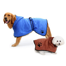 Pet Dog Towel Super Absorbent Dog Bathrobe Microfiber Bath Towels Quick-drying Cat Bath Towel Fiber Brown/blue lx 9009 cozy fiber bath towel shower cap blue