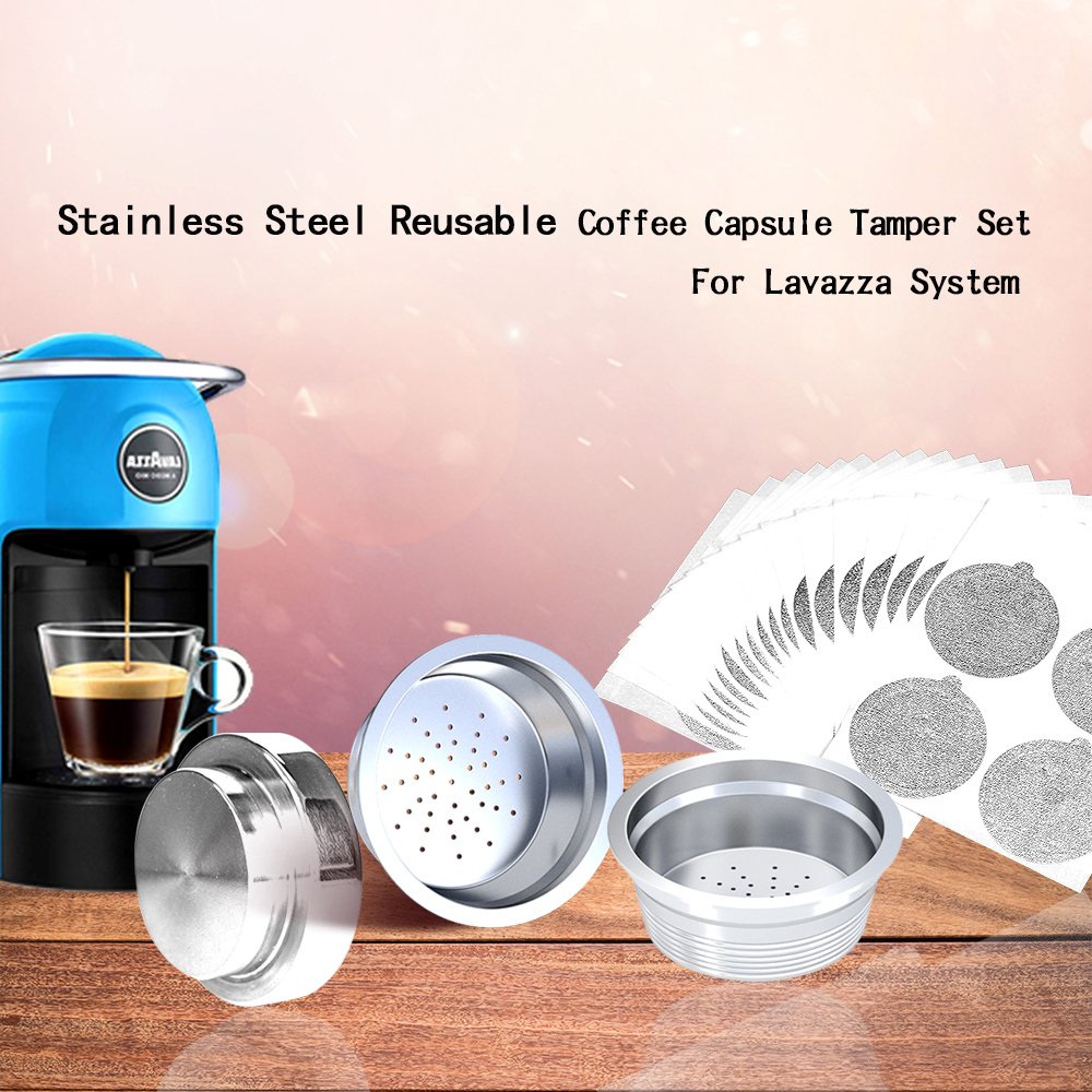 Capsule Press Tamper Lavazza Mio Modo Coffee Reusable Espresso-Maker-Basket-Set Stainless