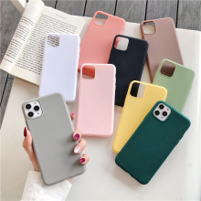 De Lujo Simple color caramelo suave cubierta para iPhone 11 6,1 pulgadas 2019 para iPhone caso XR X XS X Max 7 6 6s 8 Plus 11 Pro Max 6,5