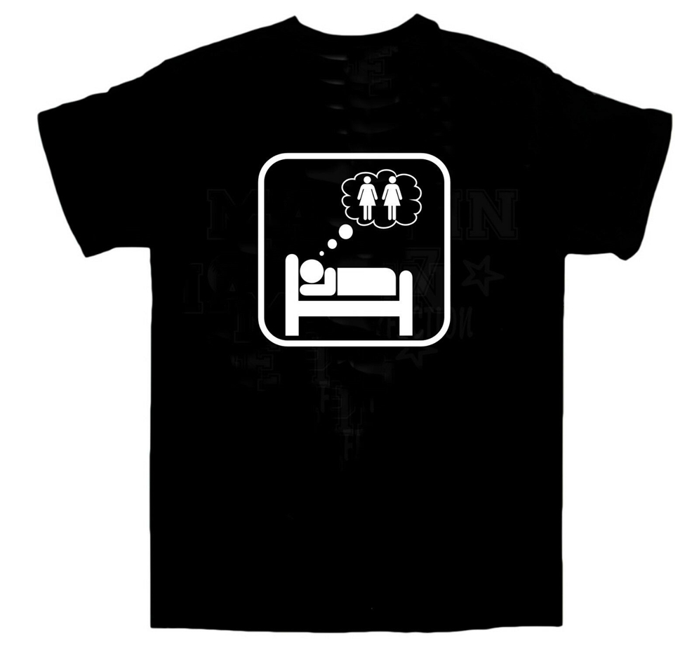 Dreaming Of 2 Girls T-Shirt Sex Threesome Orgy Wedding Bbq All Sizes Full-Figured Tee Shirt image