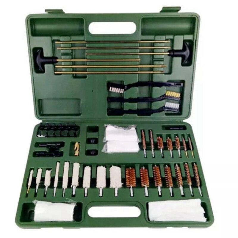 62 peça tático universal kit de limpeza arma suprimentos para todos os 9mm .22/40/45/380 calibre armas