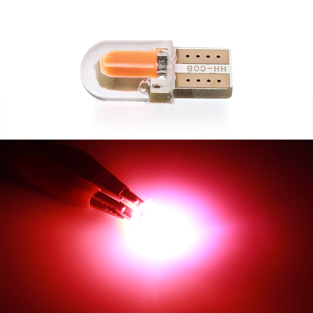 1 piece T10 <font><b>LED</b></font> red License Light Bulb <font><b>W5W</b></font> 194 168 <font><b>W5W</b></font> <font><b>COB</b></font> 8SMD <font><b>Led</b></font> Parking Bulb Auto Wedge Clearance Lamp <font><b>CANBUS</b></font> Silica image
